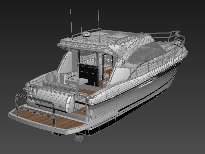 riviera 3600 sport yacht 3d model max 159749