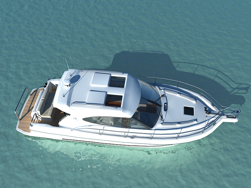 riviera 3600 sport yacht 3d model max 159750