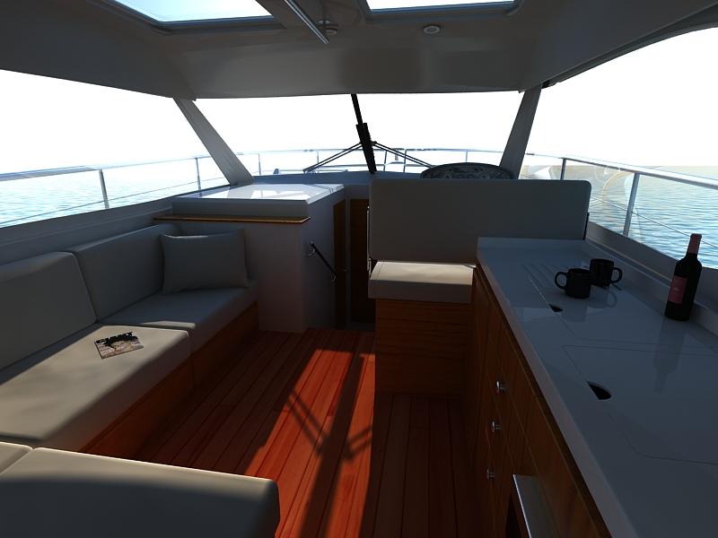 riviera 3600 sport yacht 3d model max 159752
