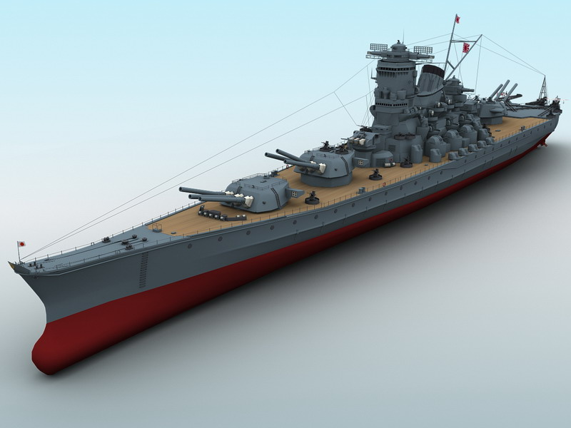 Yamato Battleship ( 64.22KB jpg by maxman )