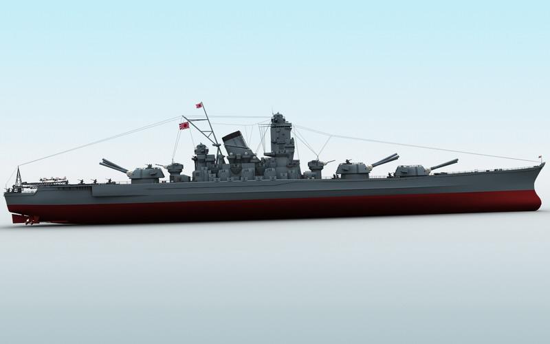 Yamato Battleship ( 36.87KB jpg by maxman )