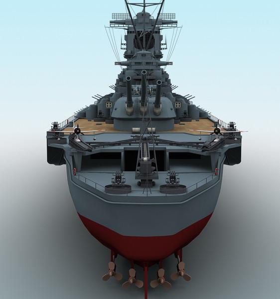 Yamato Battleship ( 54.97KB jpg by maxman )