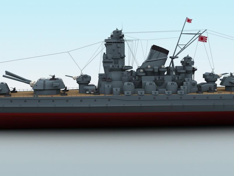 Yamato Battleship ( 65.13KB jpg by maxman )