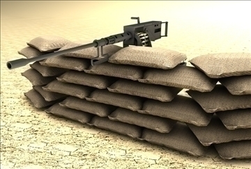 Browning m2 machine gun 3d modelo 3ds c4d texture 86879