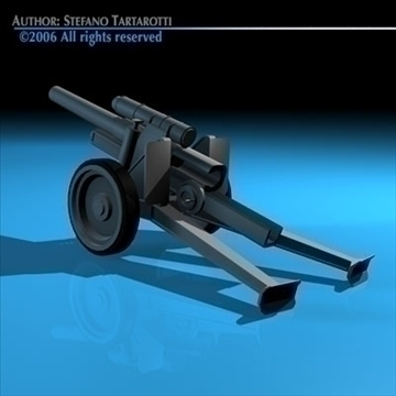 cannon 3d model 3ds dxf c4d obj 82042