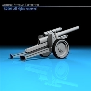 cannon 3d model 3ds dxf c4d obj 82044