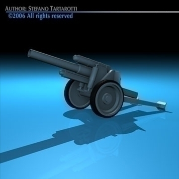 cannon 3d model 3ds dxf c4d obj 82046
