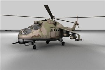 hind 24 soviet military helicopter 3d model 3ds c4d texture 109295