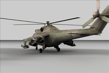 hind 24 soviet military helicopter 3d model 3ds c4d texture 109296