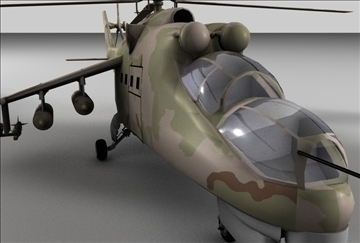 hind 24 soviet military helicopter 3d model 3ds c4d texture 109297