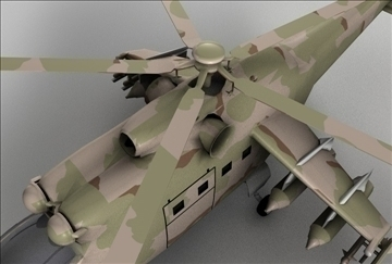 hind 24 soviet military helicopter 3d model 3ds c4d texture 109299