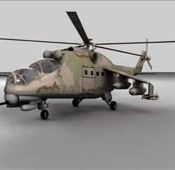 Hind 24 Soviet Military Helicopter ( 39.79KB jpg by matttrout )