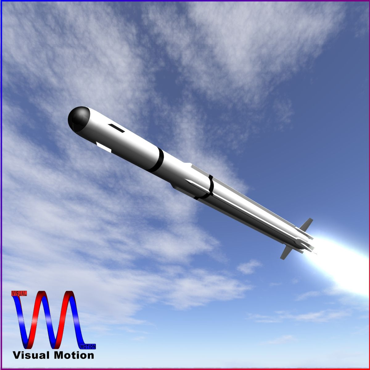 a-darter air-to-air missile 3d model 3ds dxf cob x obj 151878