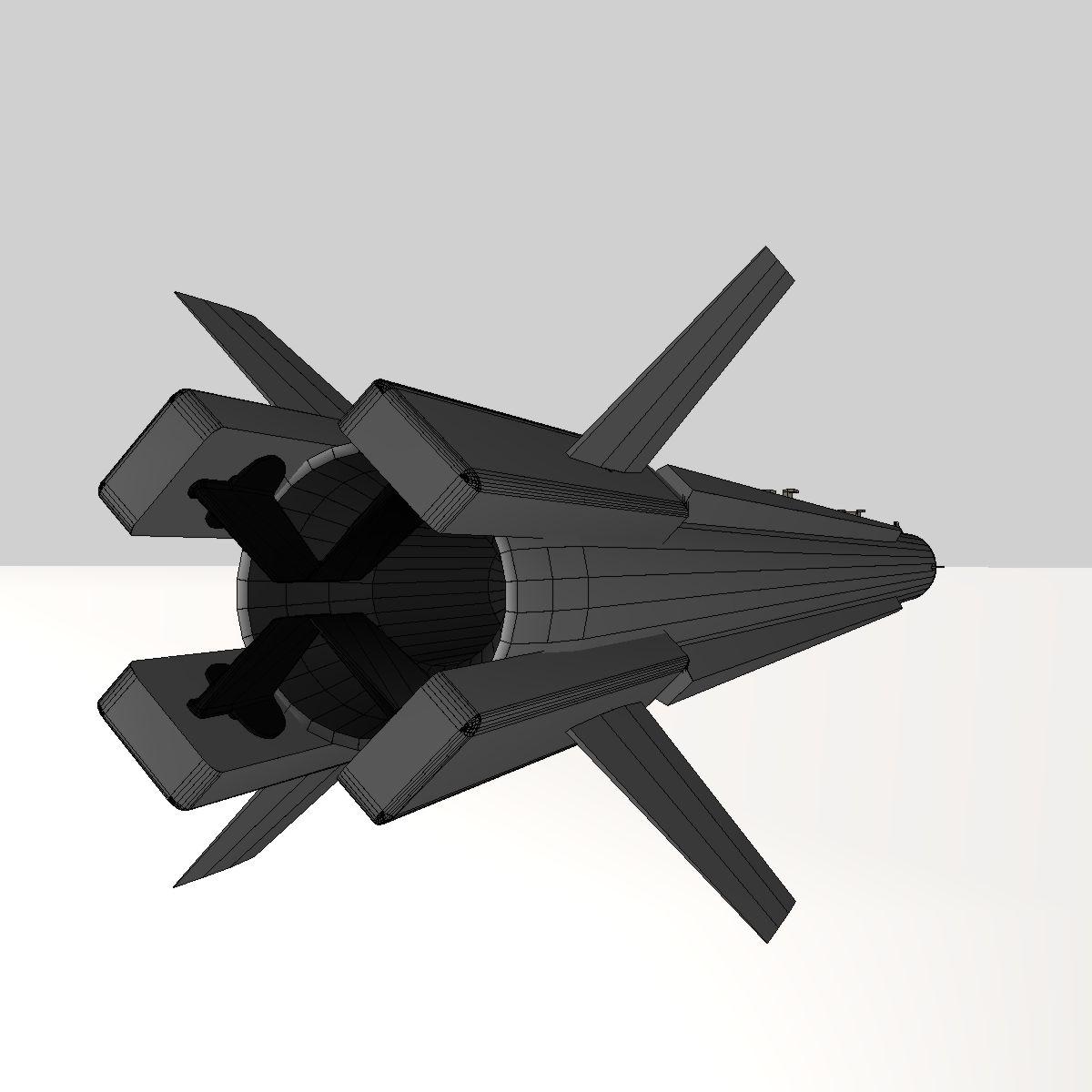 a-darter havadan havaya mərmi 3d modeli 3ds dxf cob x obj 151889