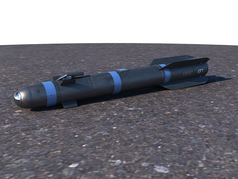 agm-114 hellfire ii missile 3d model max 161058
