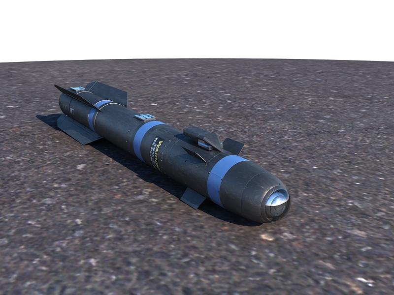 agm-114 hellfire ii missile 3d model max 161059