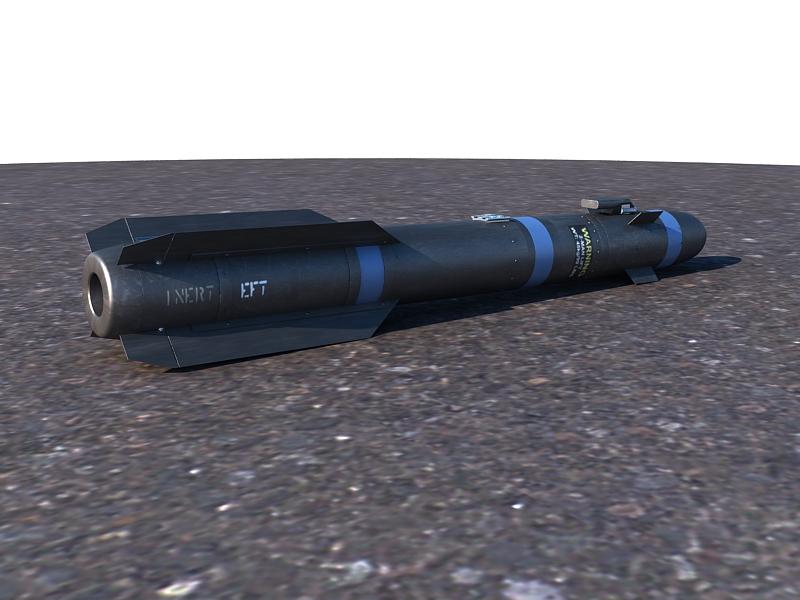 agm-114 hellfire ii missile 3d model max 161061