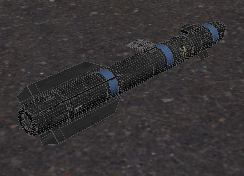 agm-114 hellfire ii missile 3d model max 161062