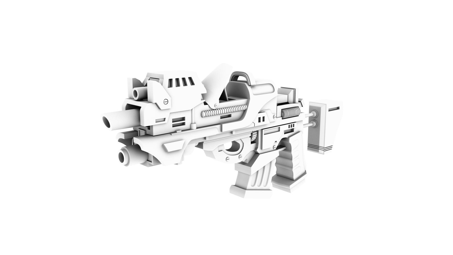vojni pištolj 3d model 128978