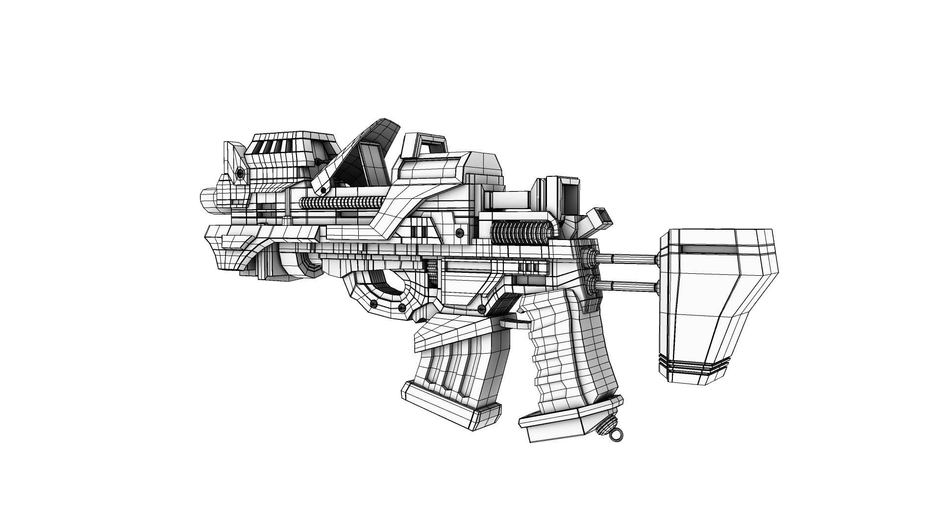 army gun 3d model 128980