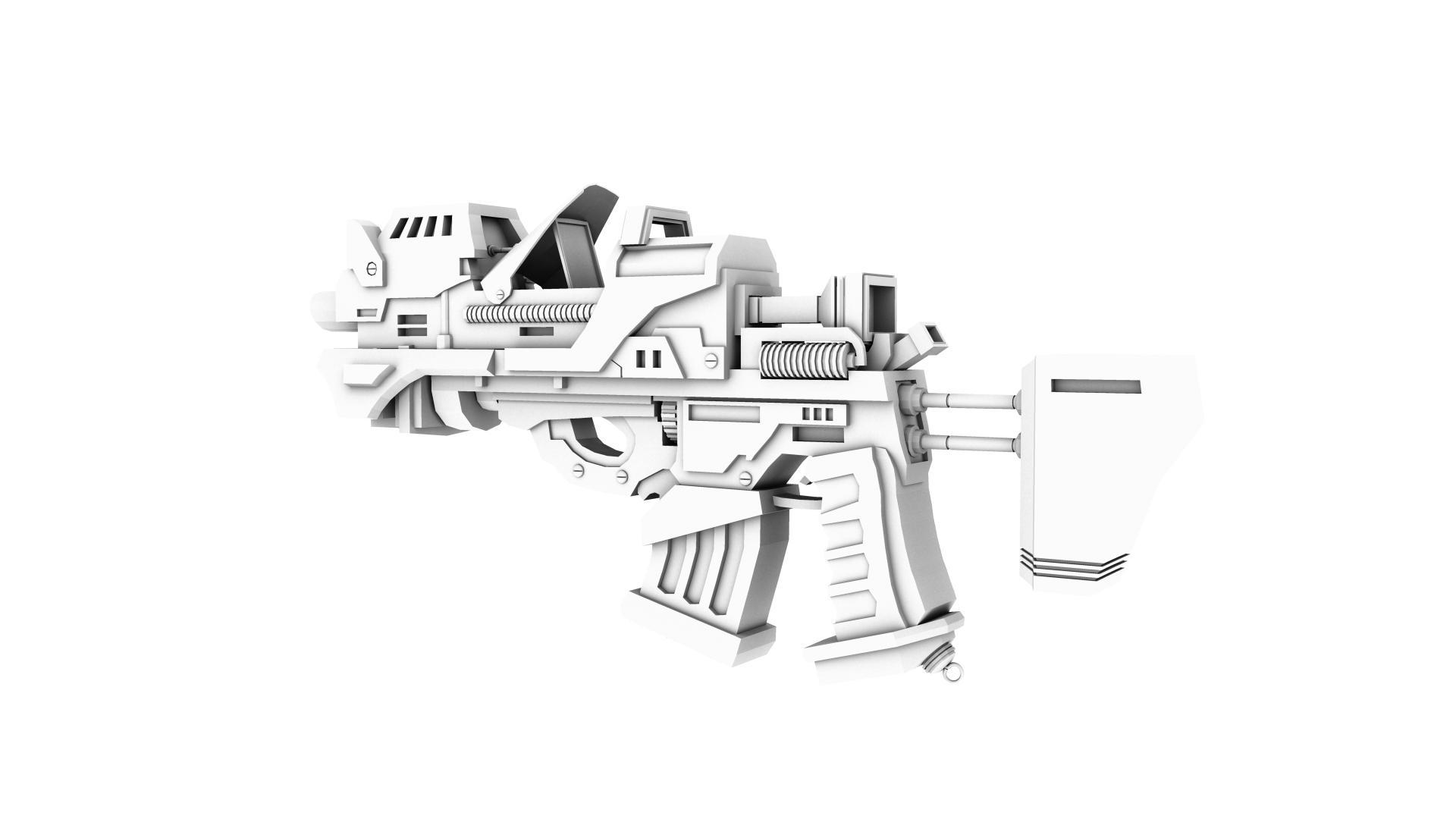 army gun 3d model 128981
