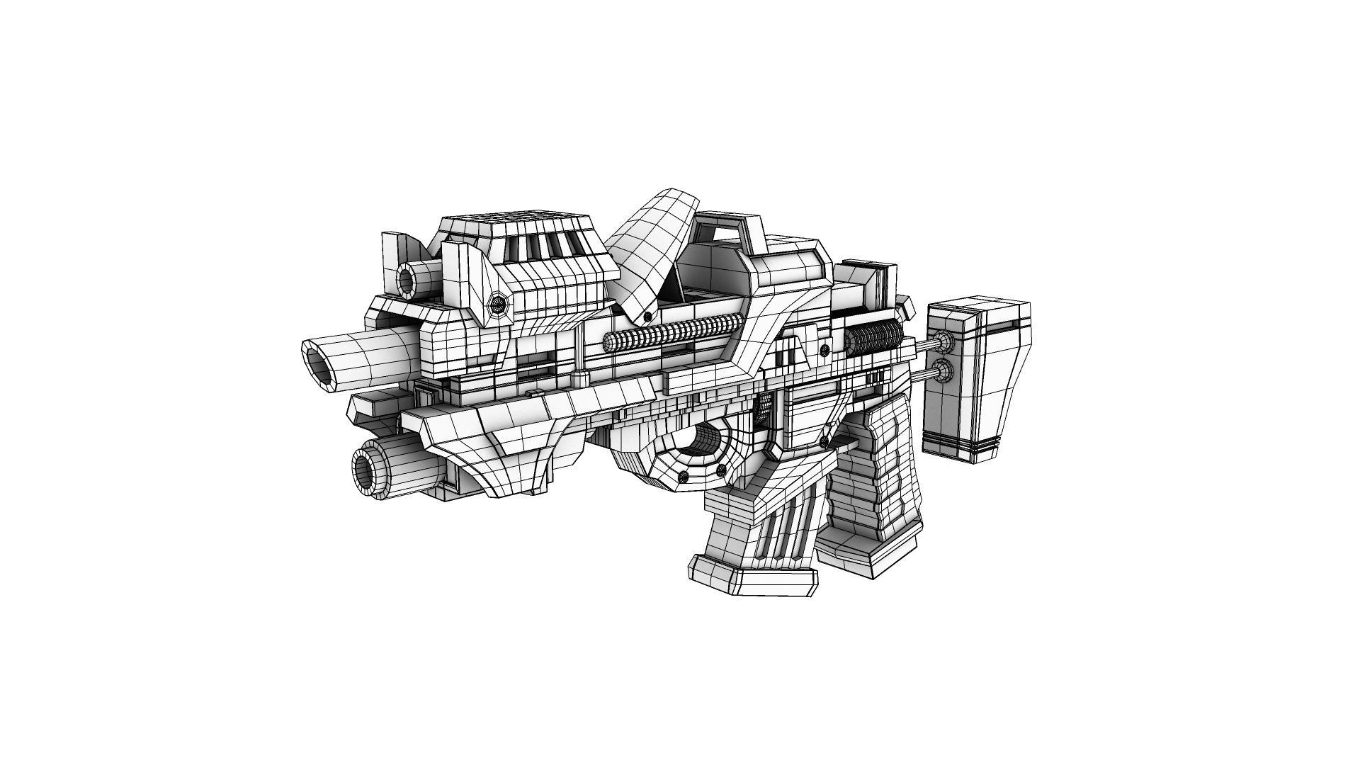 army gun 3d model 128982