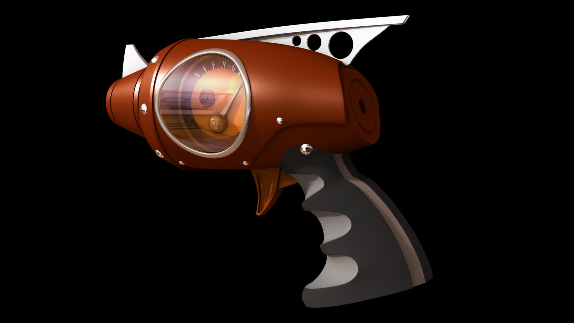 avenger pistol 3d model 128984