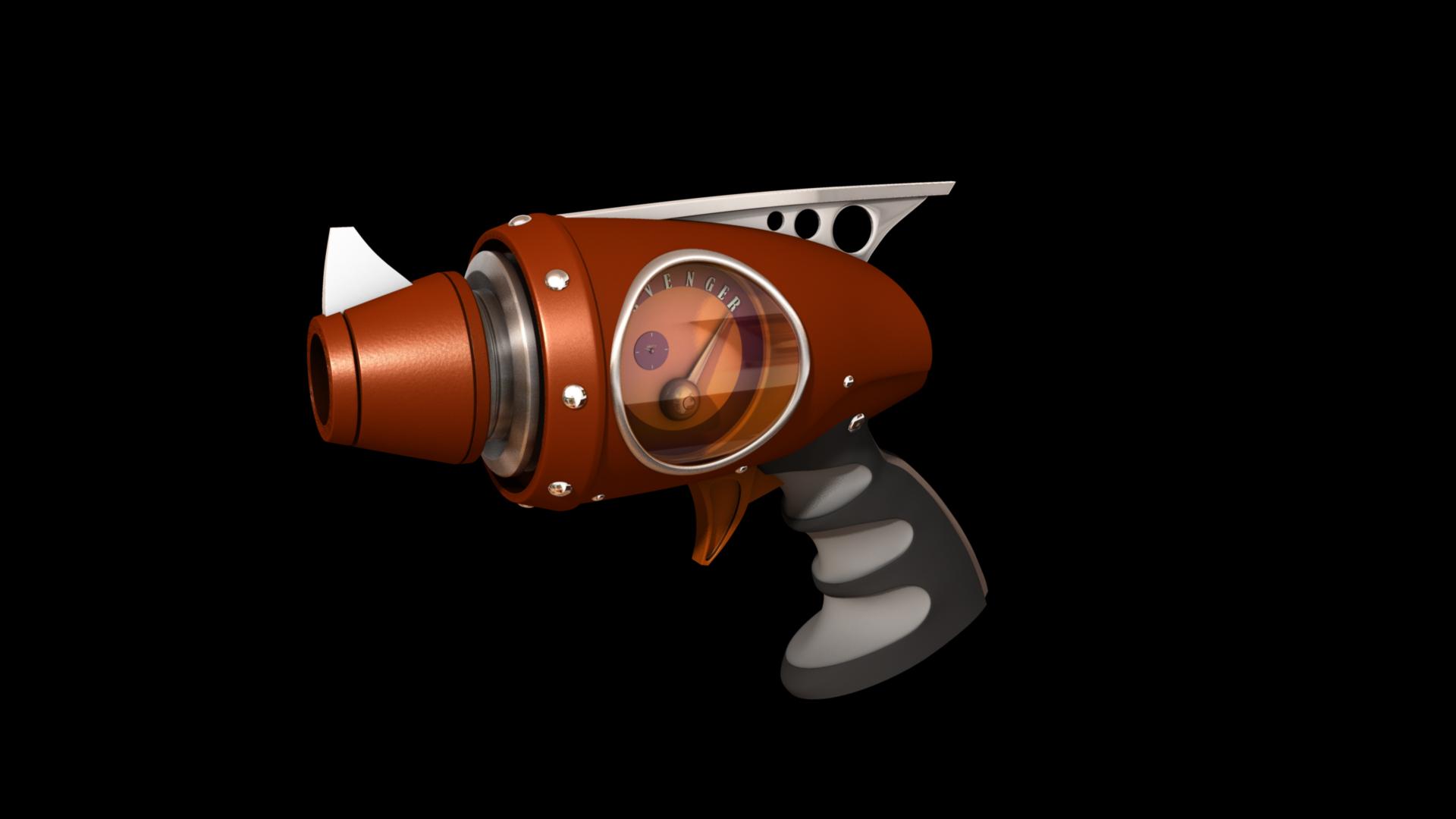 avenger pistol 3d model 128985