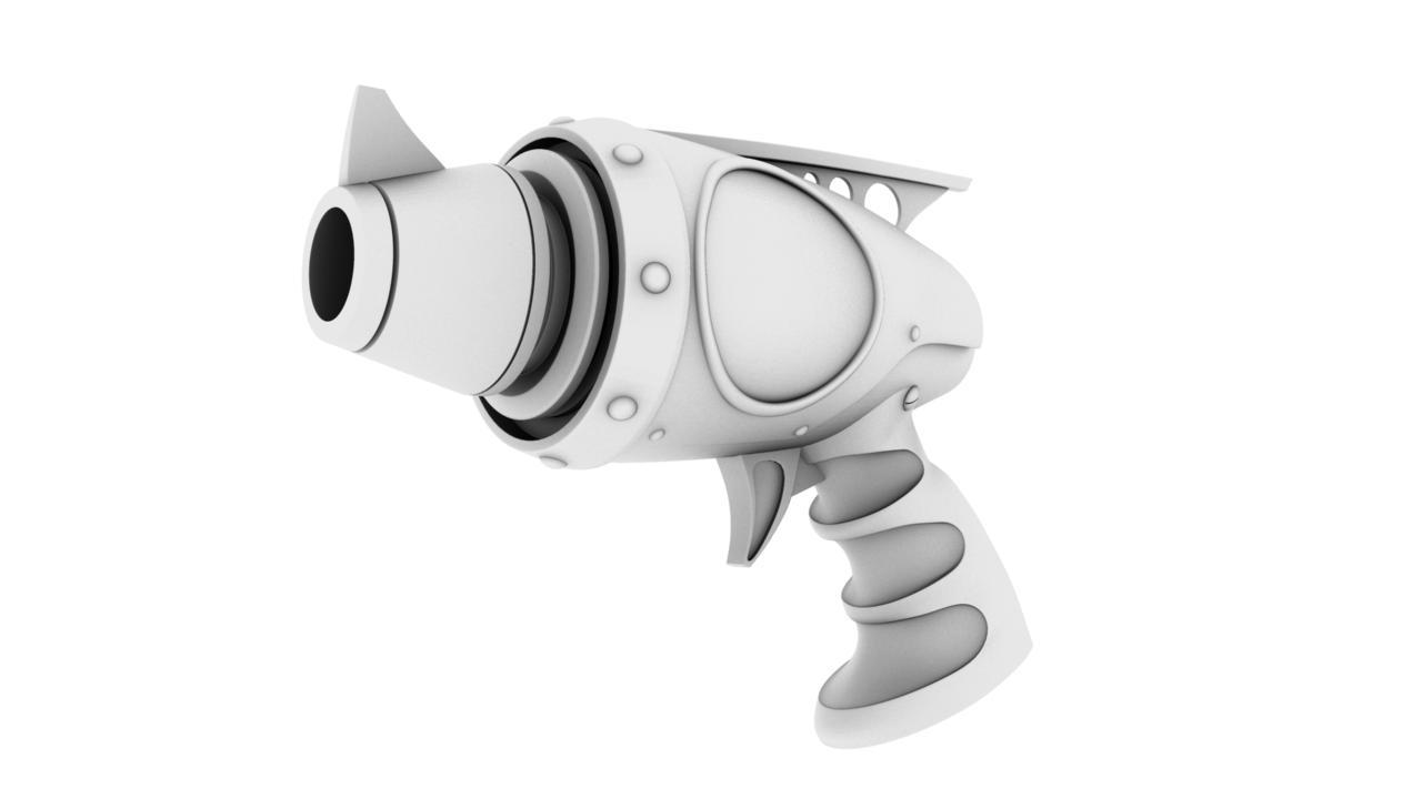 avenger pistol 3d model 128986