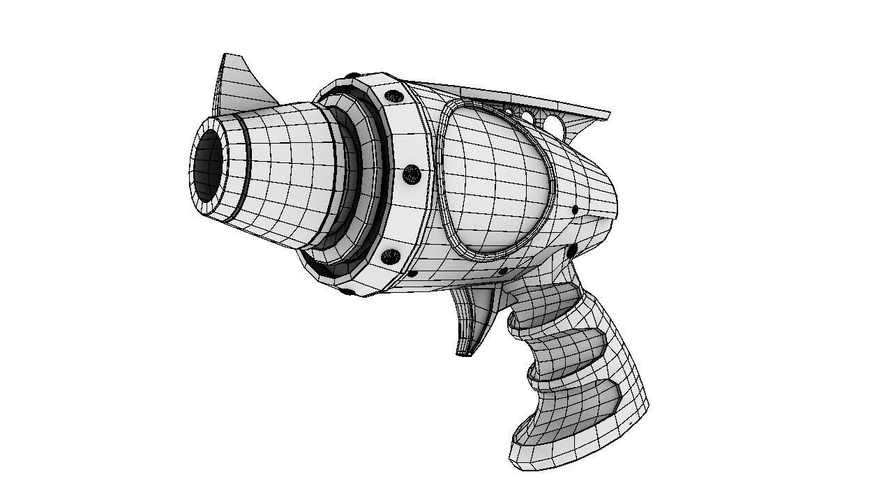 avenger pistol 3d model 128987