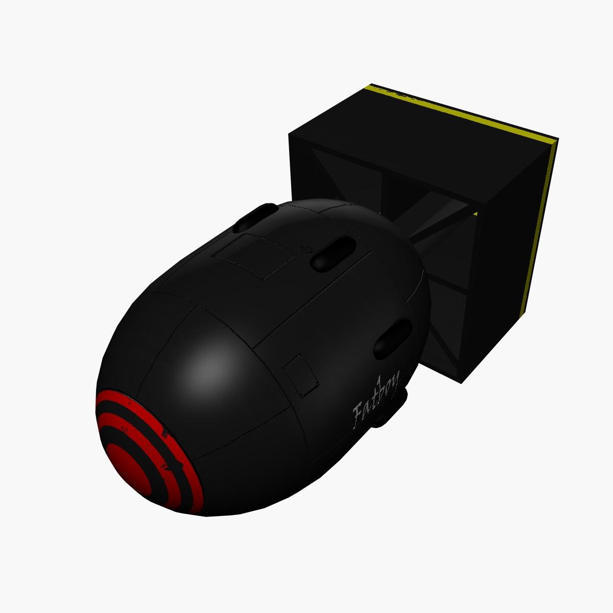 bomb with fatboy scheme 3d model 3ds dxf fbx blend cob dae x obj 162692