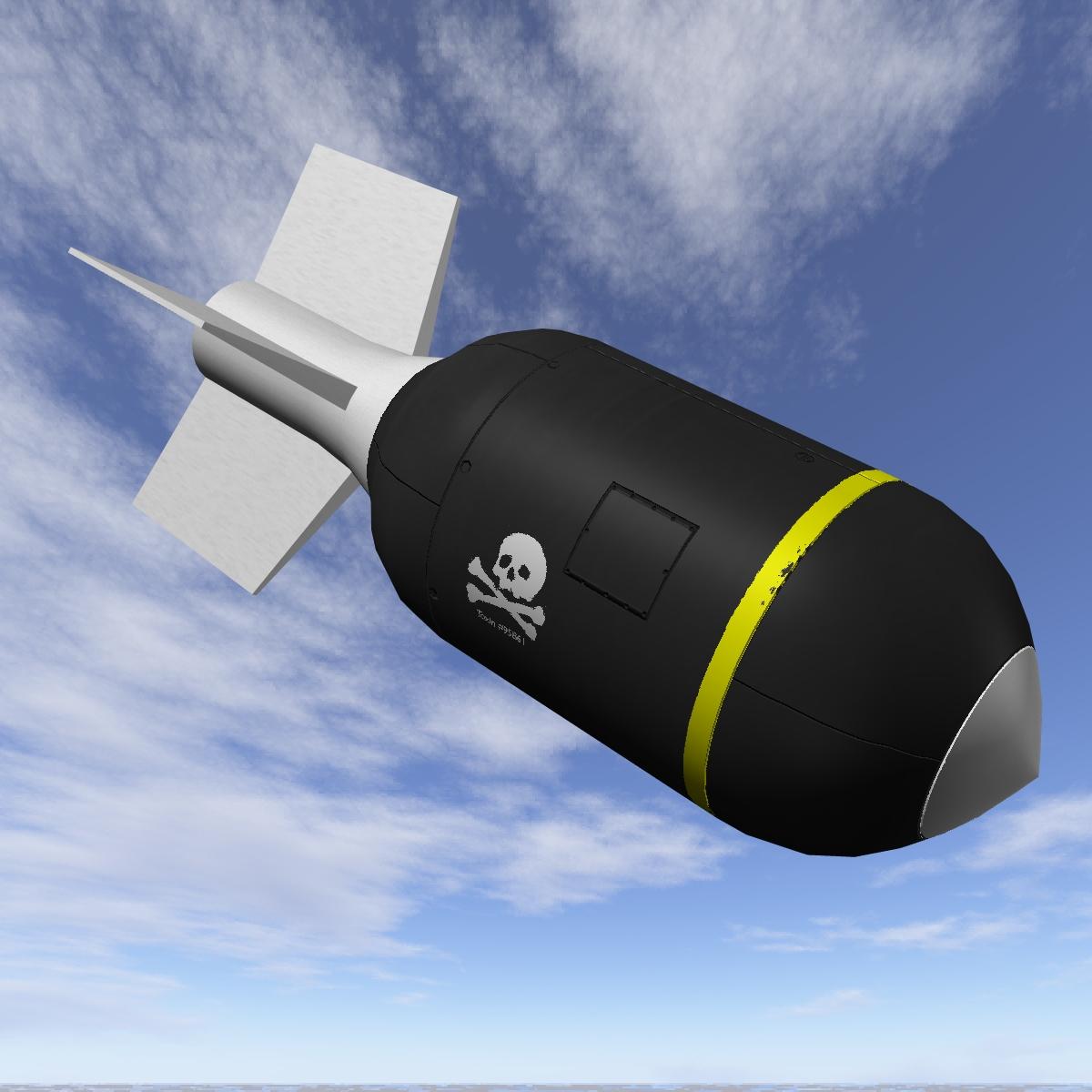 Bomb, Jolly Roger scheme 3d model 3ds dxf fbx blend cob dae X obj 162666