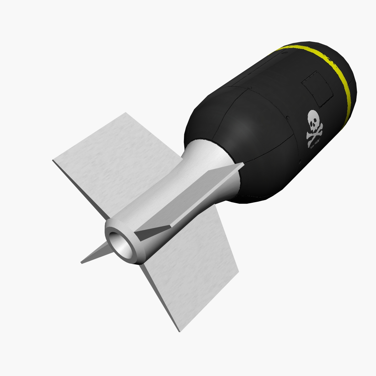 Bomb, Jolly Roger scheme 3d model 3ds dxf fbx blend cob dae X obj 162667