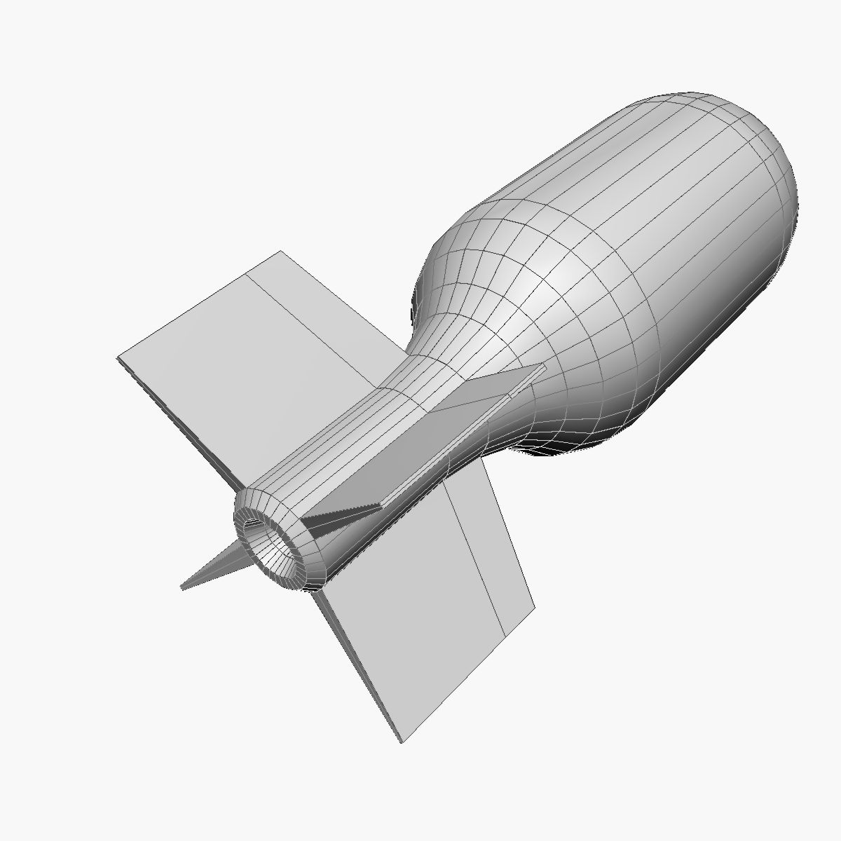 Bomb, Jolly Roger scheme 3d model 3ds dxf fbx blend cob dae X obj 162675