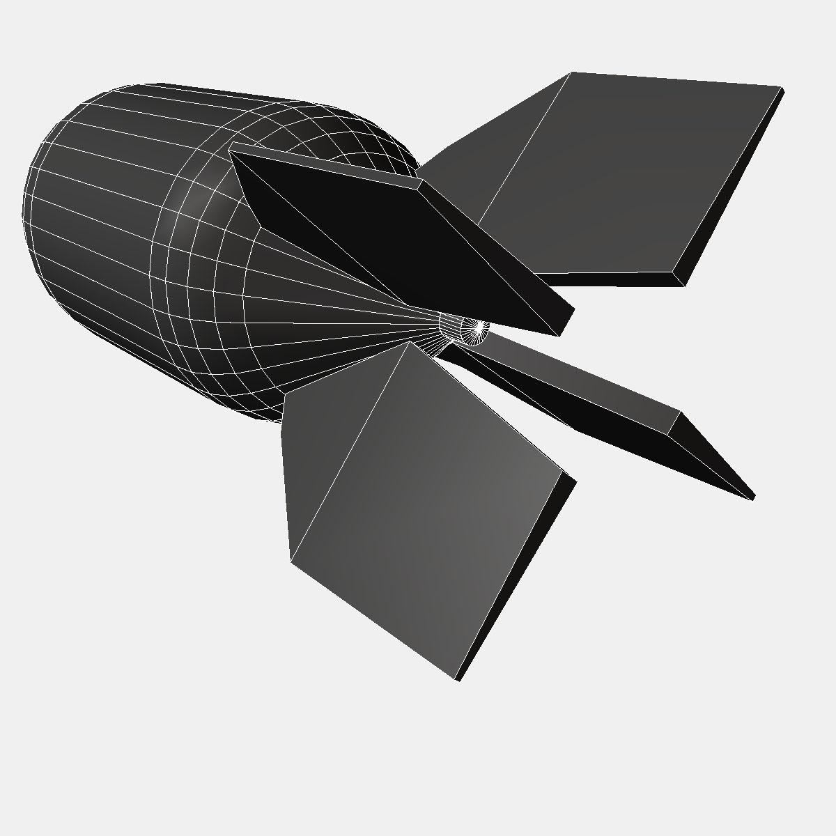 Nuclear schemed bomb 3d model 3ds dxf fbx blend cob dae X obj 162661