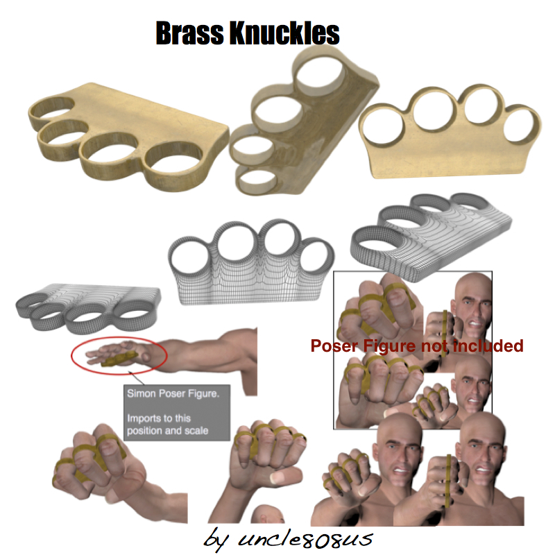 model 3d brassknuckles obj 159676