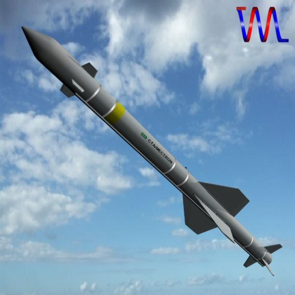 brazillian mar-1 arm missile 3d model 3ds dxf cob x obj 154731