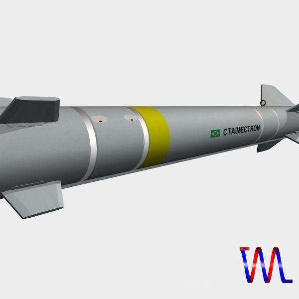 brazillian mar-1 arm missile 3d model 3ds dxf cob x obj 154732