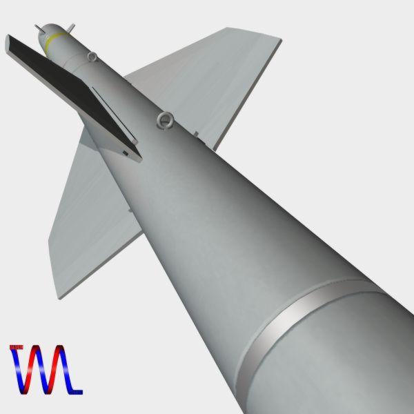 brazillian mar-1 arm missile 3d model 3ds dxf cob x obj 154733