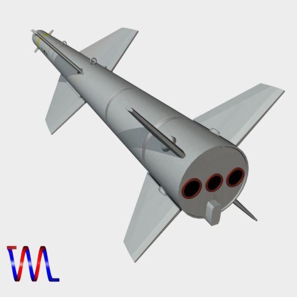 brazillian mar-1 arm missile 3d model 3ds dxf cob x obj 154734