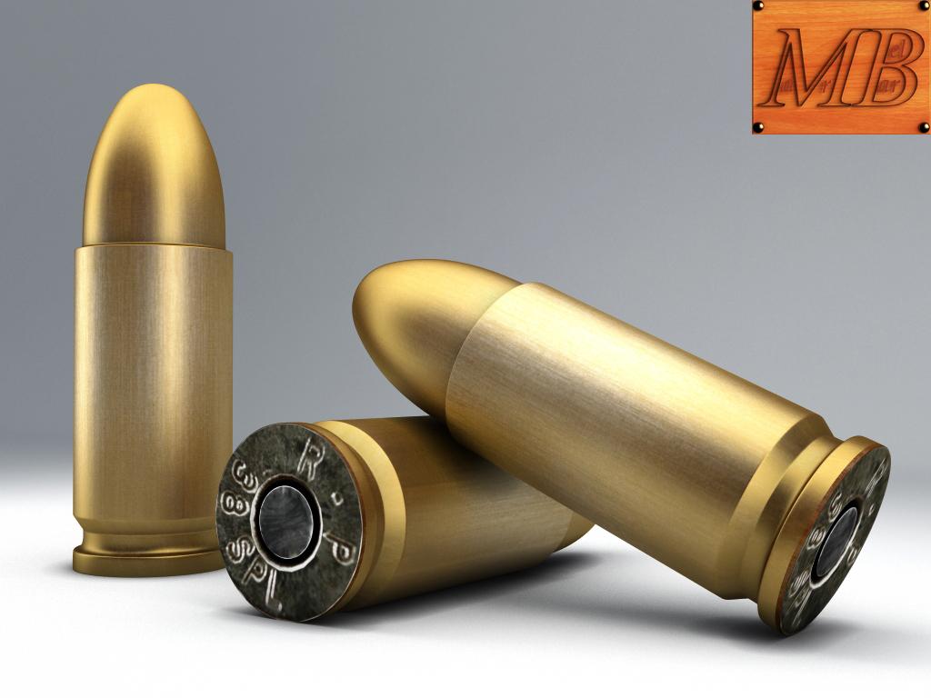 bullet .38 3d model 3ds max fbx c4d obj 156234