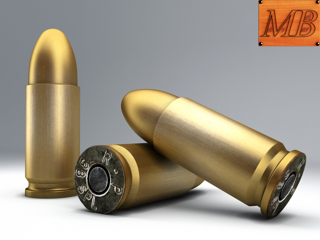 bullet .38 3d líkan 3ds max fbx c4d obj 156234