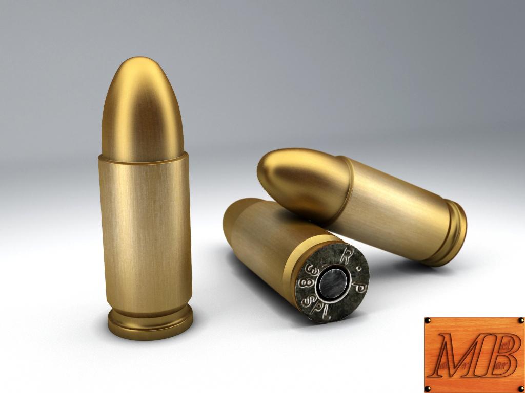bullet .38 3d model 3ds max fbx c4d obj 156235