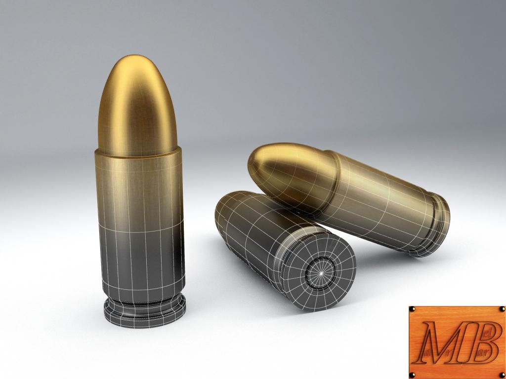 bullet .38 3d model 3ds max fbx c4d obj 156237