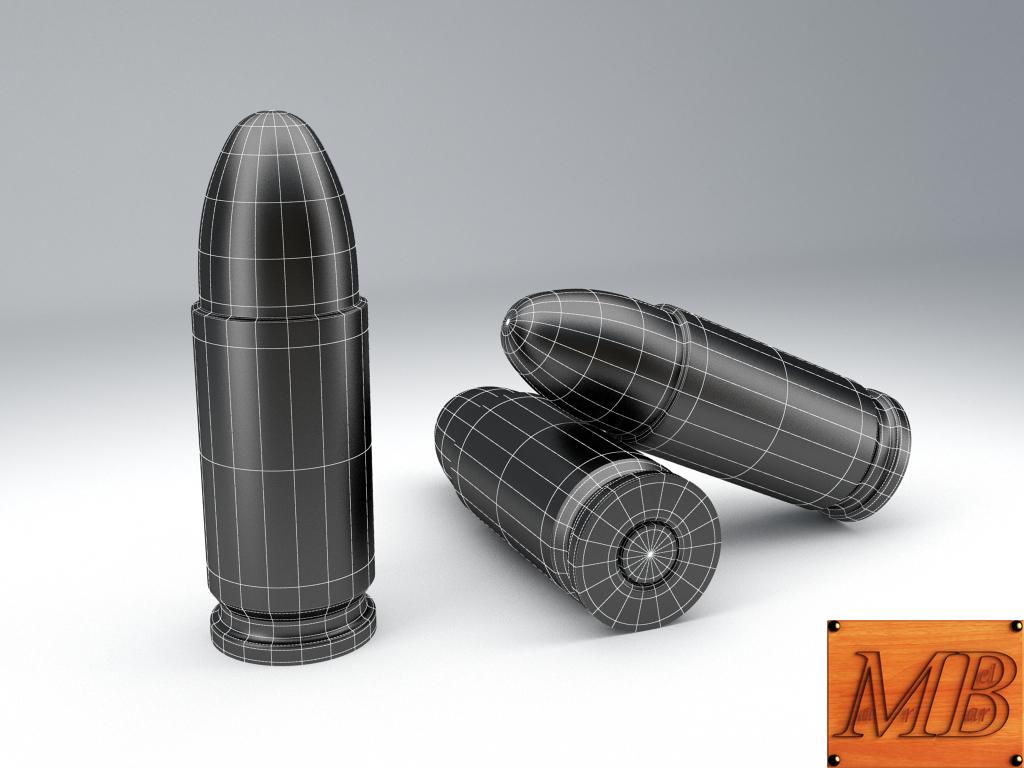 bullet .38 3d model 3ds max fbx c4d obj 156238