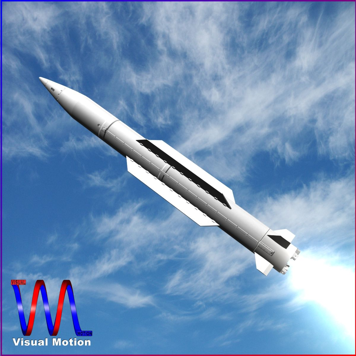 chinese sy-400 missile 3d model 3ds dxf cob x obj 157958