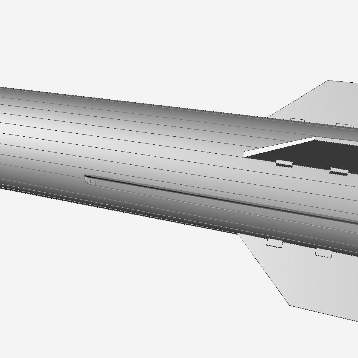 БНХАУ-ын С-400 пуужин 3d загвар 3ds dxf cob x obj 157966