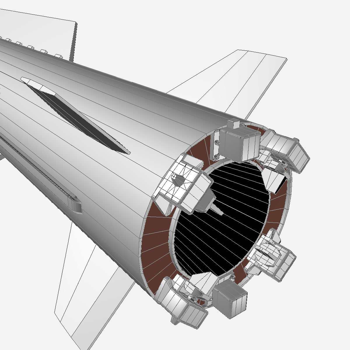БНХАУ-ын С-400 пуужин 3d загвар 3ds dxf cob x obj 157969