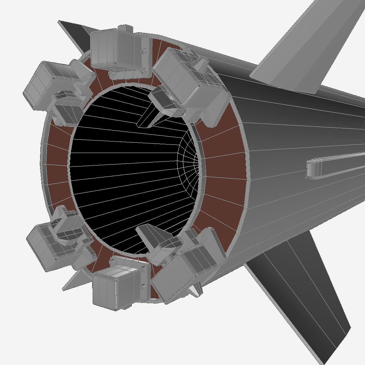 БНХАУ-ын С-400 пуужин 3d загвар 3ds dxf cob x obj 157972