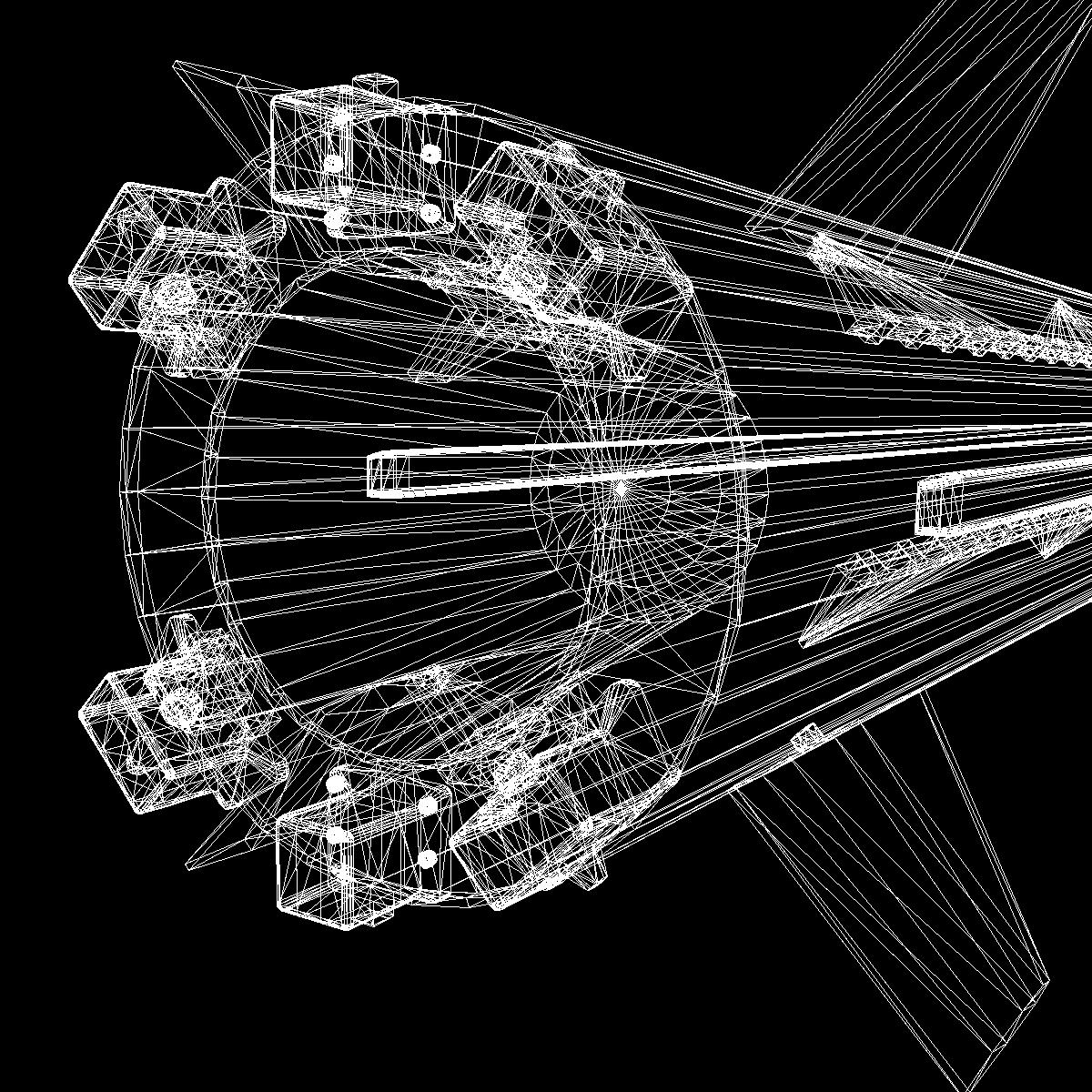 БНХАУ-ын С-400 пуужин 3d загвар 3ds dxf cob x obj 157973